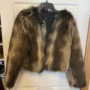 Exclusive Forever 21 brown faux fur jacket